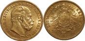 20 mark 1872 Germany / Preußen Wilhelm I. C UNC-