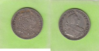 Wrttemberg 1/4 Taler 1744 sehr schn  seh...