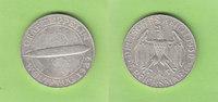 5 Reichsmark 1930 E Weimarer Republik Zeppelin, hübsch, selten vz+/vz  172,50 EUR  +  4,00 EUR shipping