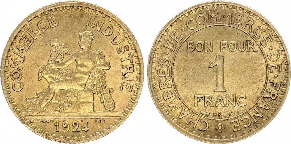 1 franc 1924 france chambre de commerce 1924 ferm 468 for Chambre de commerce polonaise en france