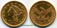 USA 2 ½ Dollars 1878 vz USA - 2 ½ Dollars - 1878 340,00 EUR  +  17,00 EUR shipping