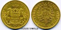 20 Mark 1875  Hamburg - 20 Mark - 1875 ss  355,00 EUR  plus 17,00 EUR verzending