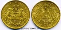 20 Mark 1900  Hamburg - 20 Mark - 1900 vz  347,00 EUR  plus 17,00 EUR verzending