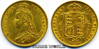 1/2 Sovereign 1890 Großbritannien / GB Großbritannien / GB - 1/2 Sovere... 190,00 EUR  plus 17,00 EUR verzending