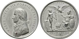 Zinnmedaille 1799 von Johann Christian Bra...