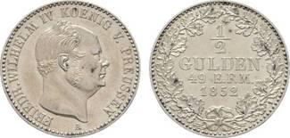 1/2 Gulden 1852 A Brandenburg-Preußen Frie...