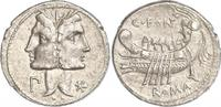 Denar  114-130  n. Chr. Republik C. Fonteius 114-130 v. Chr.. Vorzüglich  500,00 EUR