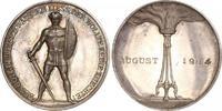 Silbermedaille 1914 Erster Weltkrieg Allgemeine Propaganda Schöne Patin... 290,00 EUR free shipping