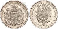 2 Mark 1888  J Hamburg  Winzige Randfehler, fast Stempelglanz  925,00 EUR free shipping