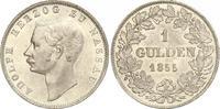 Gulden 1855 Nassau Adolph 1839-1866. Prachtexemplar. Fast Stempelglanz  500,00 EUR free shipping