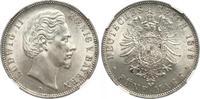 5 Mark 1876 Bayern Ludwig II. 1864-1886. Fast Stempelglanz  790,00 EUR free shipping
