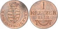 Cu Kreuzer 1818 Sachsen-Meiningen Bernhard Erich Freund 1803-1866. Vorz... 80,00 EUR  +  6,00 EUR shipping