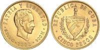 5 Pesos Gold 1916 Kuba Republik seit Winzige Kratzer, vorzüglich  350,00 EUR free shipping