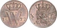 1/2 Cent 1877 Niederlande-Königreich Willem III., 1849-1890. Fast Stemp... 80,00 EUR  +  6,00 EUR shipping