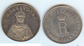 Madagascar 5 Francs 1886 PP