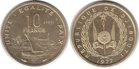 Probe 10 Francs 1977 Dschibuti Probe 10 Francs 1977 Stempelglanz  60,00 EUR