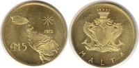 5 Pounds 1972 Malta Republik Gold 5 Pounds 1972 GOLD. Fast Stempelglanz  165,00 EUR