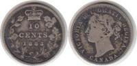 10 Cents 1883 Kanada Victoria 10 Cents 1883 H schön - sehr schön  95,00 EUR  +  5,00 EUR shipping
