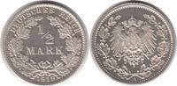 1/2 Mark 1919 Kaiserreich 1/2 Mark 1919 A Zaponiert. Polierte Platte  195,00 EUR