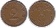 2 Pfennig 1940 Drittes Reich 2 Pfennig 1940 G sehr schön - vorzüglich  85,00 EUR
