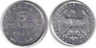 3 Mark 1922 Weimarer Republik 3 Mark 1922 E Dezentriert vorzüglich - St... 95,00 EUR  +  5,00 EUR shipping