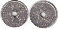 Probe 2 Centimes 1887 Kongo Zaire Leopold II. von Belgien Probe 2 Centi... 750,00 EUR  +  5,00 EUR shipping