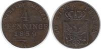 4 Pfennig 1839 Altdeutschland Brandenburg-Preussen Friedrich Wilhelm II... 65,00 EUR  +  5,00 EUR shipping