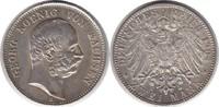 2 Mark 1904 Kaiserreich Sachsen Georg II. 2 Mark 1904 E vorzüglich +  150,00 EUR