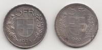 5 Franken 1923 und 1925 B Schweiz-Eidgenossenschaft 2 Stück. Sehr schön... 110,00 EUR  +  5,00 EUR shipping