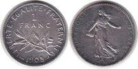 Franc 1905 Frankreich Dritte Republik Franc 1905 vorzüglich  55,00 EUR  +  5,00 EUR shipping