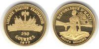 250 Gourdes 1977 Haiti Gold 250 Gourdes 1977 Menschenrechte mit Origina... 550,00 EUR  +  5,00 EUR shipping