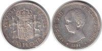 Peseta 1891 (91) Spanien Alfonso XIII. Peseta 1891 (91) PG-M Randfehler... 140,00 EUR  +  5,00 EUR shipping