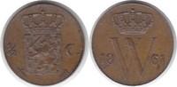 1/2 Cent 1861 Niederlande Wilhelm III. 1849-1890 vorzüglich - Stempelgl... 95,00 EUR  +  5,00 EUR shipping