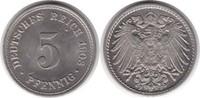 5 Pfennig 1903 Kaiserreich F fast Stempelglanz  65,00 EUR  +  5,00 EUR shipping