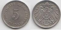 5 Pfennig 1913 E Kaiserreich  Vorzüglich-Stempelglanz  10,00 EUR  +  5,00 EUR shipping
