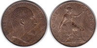 Penny 1906 Grossbritannien Edward VII. 1901-1910 fast Stempelglanz  70,00 EUR  +  5,00 EUR shipping