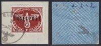 1944 Deutsches Reich Feldpost Inselpost Rhodos Päckchenzulassungsmarke... 150,00 EUR  +  5,00 EUR shipping
