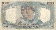 14.6.1945 NOTES OF THE BANQUE DE FRANCE Banque de France. Billet. 1000... 18,00 EUR  +  7,00 EUR shipping