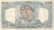 NOTES OF THE BANQUE DE FRANCE 1000  francs...