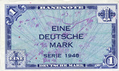 GERMANY  1948-49 I Allemagne, Bank Deutscher Länder, billet, 1 mark 1948 110,00 EUR +  10,00 EUR shipping