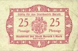 GERMANY - EMERGENCY NOTES (1914-1923) A - J Baruth. Stadt. Billet. 25... 20,00 EUR  +  7,00 EUR shipping