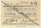 5.1.1915 FRENCH EMERGENCY NOTES Biache-Saint-Waast (62). Commune. Bill... 20,00 EUR  +  7,00 EUR shipping