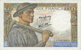 13.1.1944 BANKNOTEN DER BANQUE DE FRANCE Banque de France. Billet. 10 ... 5,00 EUR