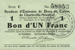 11.3.1916 FRENCH EMERGENCY NOTES Charleville et Mézières (08). Syndica... 7,00 EUR  +  7,00 EUR shipping