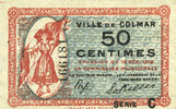 1918-12-15 FRENCH EMERGENCY NOTES Colmar (68). Ville. Billet. 50 centi... 17,00 EUR  +  7,00 EUR shipping
