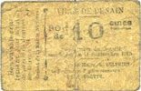11.9.1915 FRENCH EMERGENCY NOTES Denain (59). Ville. Billet. 10 centim... 20,00 EUR  +  7,00 EUR shipping