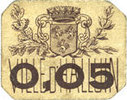 FRENCH EMERGENCY NOTES Halluin (59). Ville. Billet. 5 centimes ss  10,00 EUR  +  7,00 EUR shipping