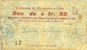16.7.1915 FRENCH EMERGENCY NOTES Mézières-sur-Oise (02). Commune. Bill... 5,00 EUR  +  7,00 EUR shipping