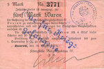 12.8.1914 GERMANY - EMERGENCY NOTES (1914-1923) K - Z Knurow (Pologne)... 40,00 EUR  +  7,00 EUR shipping