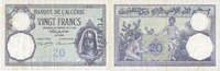 ANCIENT FRENCH COLONIES  Tunisie, billet, 20 francs, type 1912, du 8.7.1938
